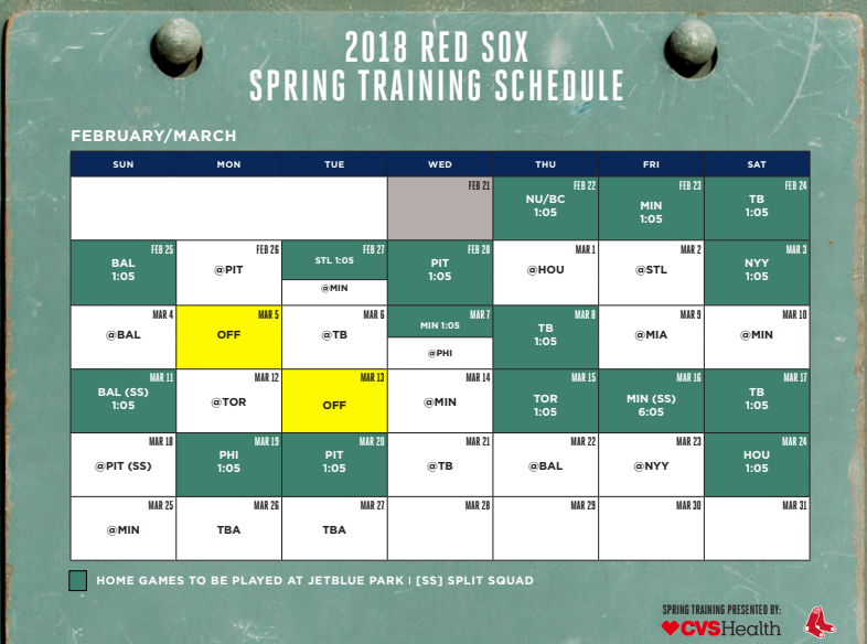 Boston Red Sox Spring Training Schedule 2019 2018 Red Sox Spring Training | Palm Air Transportation